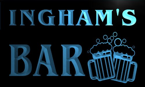 w008997-b-ingham-name-home-bar-pub-beer-mugs-cheers-neon-light-sign