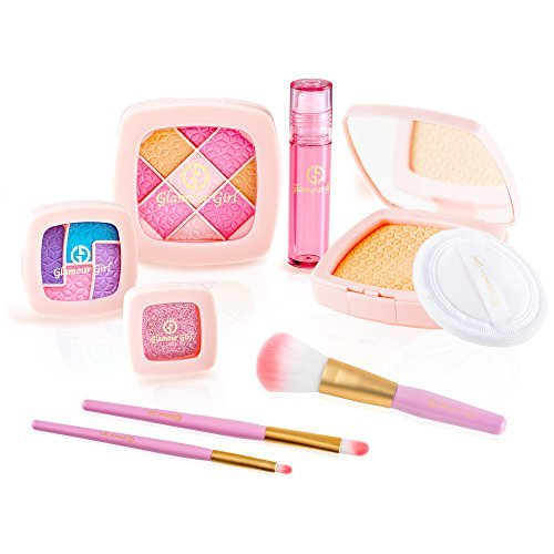 girl makeup set children pretend play kit glamour