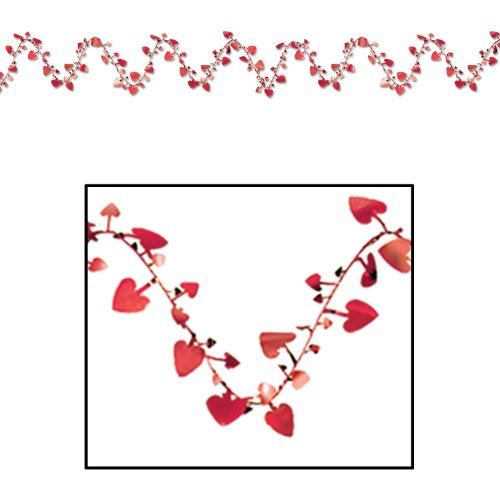 Gleam 'N Flex Heart Garland (red) Party Accessory