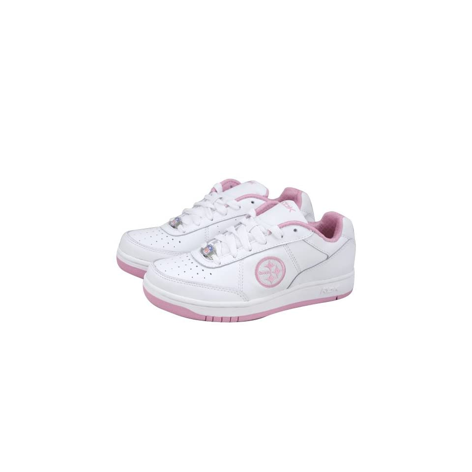 Reebok Pittsburgh Steelers Ladies White Recline Tennis Shoes: