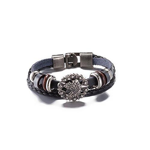 In pelle moda braccialetto di fascino retrš° degli uomini Tessuti a mano bracciali incisi Corea gioielli