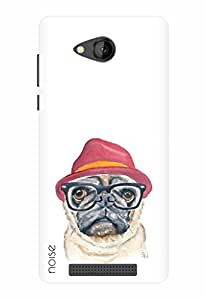 Noise Designer Printed Case / Cover for Lava A67 / Animated Cartoons / Pug Watercolor