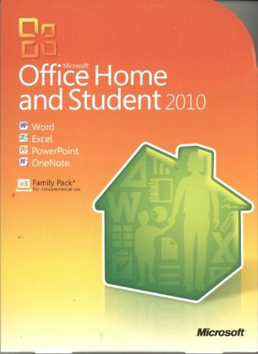 Microsoft Office Home And Student 2010 Family Pack For 3 Users/Pcs