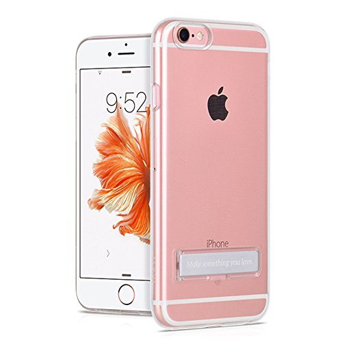 iPhone 6S Plus Case, HCE Crystal Clear Case with Metal Kickstand, Slim Fit Clear PC + TPU Bumper Armor ALL AROUND Protection Hybrid case for Apple iPhone 6S Plus & iPhone 6 Plus