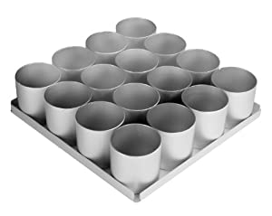 "Alan Silverwood 16 pieceRound Multi Mini Cake Pan Set 2"" deep"
