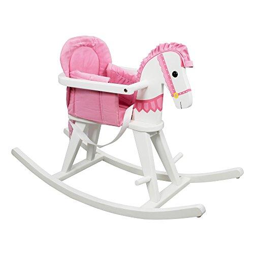 Fantasy Fields - Safari White Rocking Horse w/Pink Pad - 1