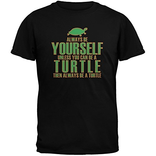 always-be-yourself-turtle-black-adult-t-shirt-medium