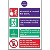 Fire Action Safety Sign / Notice (Semi Rigid) - make everyone aware of risks and procedures