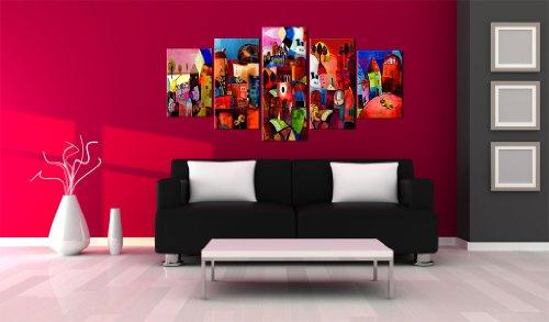 Quadro 200x100 cm 5 parti quadro su tela fliselina for Toile murale grand format