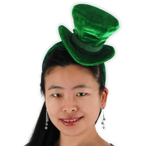 Lets Party By Elope Green Cocktail Top Hat Headband