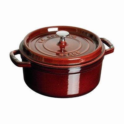 Round Dutch Oven Color: Grenadine, Size: 7-Qt.