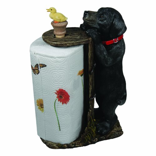Rivers Edge Products Black Lab Paper Towel Holder