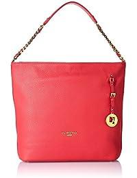 Da Milano Women's Handbag (Coral Red) (Lb-4007Acoral Redwax)