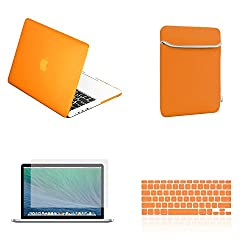 TopCase Macbook Pro 15' 15-inch A1398 with Retina Display 4 in 1 Bundle - Rubberized Hard Case Cover + Matching...