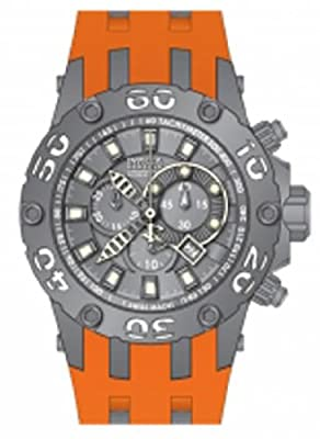 Invicta Men's 12087 Subaqua Reserve Chronograph Grey Dial Orange Polyurethane Watch