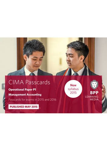 CIMA P1 Management Accounting: Passcards