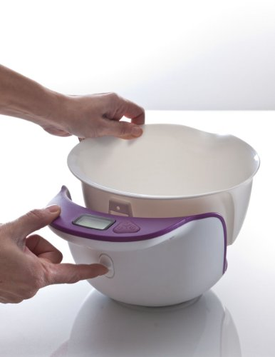 Idelice PR252 788A Balance de Cuisine Digitale avec Bol Mélangeur Amovible Violet