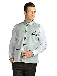 FDN Men's Jute Waistcoat(GRY775_Grey_XL)