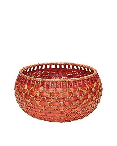 Medium Fish Scale Basket, Red/Orange