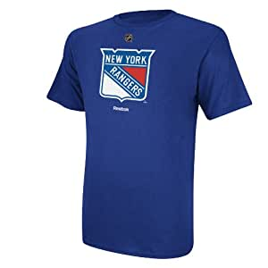 New York Rangers Reebok NHL Primary Logo T-Shirt - Blue