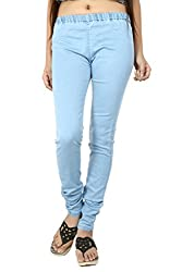 Stretchable Silky Denim Women's Jeggings From Logus-30