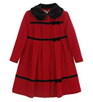 Hartstrings Red Wool Blend Coat Red 4