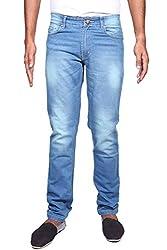 John Wills Men's Slim Fit Jeans (MCR1049, Blue, 36)