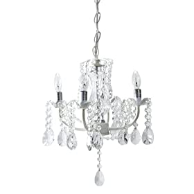 Chandelier - 4 Arm with Glass Crystal Stem and Drops From CBK Home Lighting