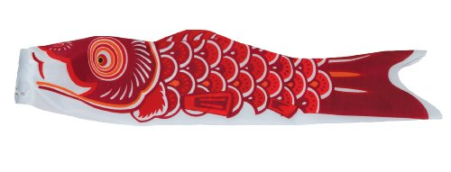 In the Breeze Koi Fish Windsock, 24-Inch, Red