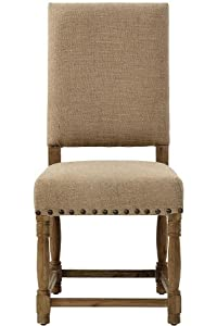 "Cane Dining Chair Set Of 2, 41.5""X19.5""X27"", TAN BURLAP"