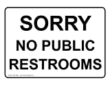 ComplianceSigns Vinyl Restroom Public / Private Label, 7 x 5 in. with English, White
