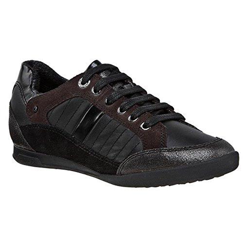 Geox-Zapatillas-de-Piel-para-mujer-Negro-negro
