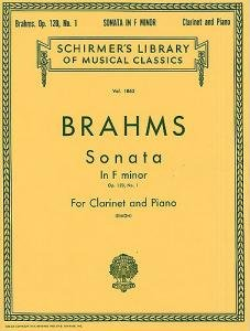 Johannes Brahms Sonata For Clarinet And Piano In F Minor Op120 No1 from Music Sales