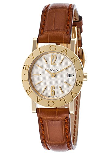 Bulgari Women's Brown Alligator Silver-Tone Dial