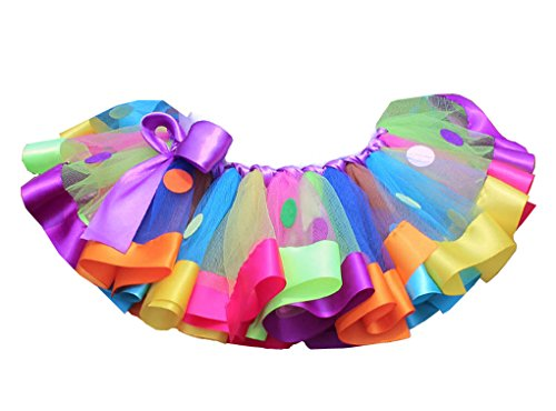 Rush Dance RAINBOW BIRTHDAY POLKADOTS Ballerina Girls Dress-Up Princess Costume Tutu