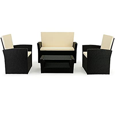 Rattan wicker Garden furniture set - 10 pieces - Outdoor living furniture set