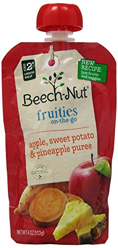 Beech-nut Fruities On-the-go Apple, Sweet Potato, Pineapple 8/4oz Pouches - 1