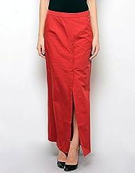 XnY Women's Skirt (SK 1020098_Deep Red_10)