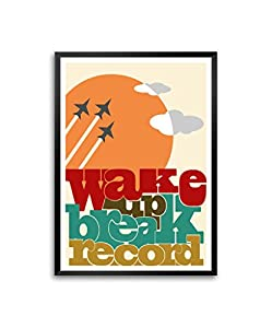 Amazon.com: Lab No.4 Wake up Break Record Inspire and Motive Quotes in