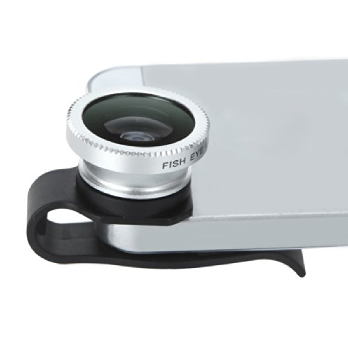 Detachable Clip-On 180? Degrees Telephoto Fisheye Lens Fish Eye For Mobile Phones Iphone 4 4S
