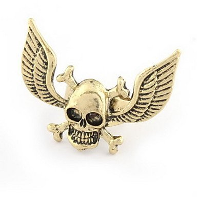 JEW JEWLY Fashion Skull Wings Ring(Random Color,Size 9)