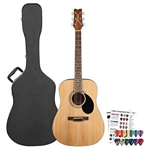 jasmine by takamine s35 acoustic dreadnought guitar with pick sampler hard shell. Black Bedroom Furniture Sets. Home Design Ideas