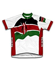 Kenya Flag Short Sleeve Cycling Jersey for Women