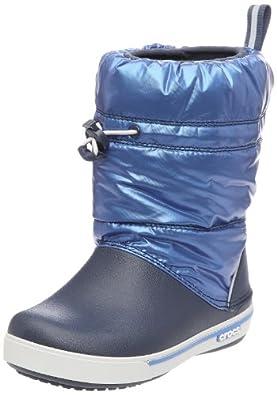 crocs Crocband Iridescent Gust Boot Kids, Unisex-Kinder Halbschaft Gummistiefel, Blau (Navy/Sea Blue 41A), 22/23 EU