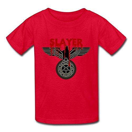 goldfish-youth-retro-organic-cotton-slayer-t-shirt-red-us-size-s