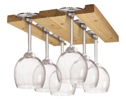 Wine Glass Rack, Wood (Wood Wine Glass Hanging Rack compare prices)