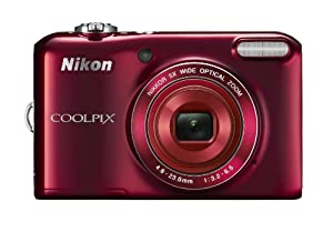 "Nikon COOLPIX L28 20.1 MP Digital Camera with 5x Zoom Lens and 3"" LCD (Red) (OLD MODEL)"