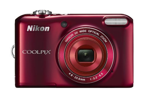 """Nikon Coolpix L28 20.1 Mp Digital Camera With 5X Zoom Lens And 3"""" Lcd (Red)"""