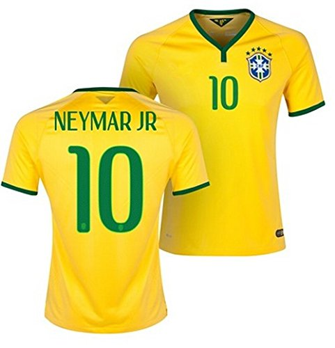 more photos 2bf6c 552f0 Brazil Neymar #10 Home Kids Soccer Jersey All Youth Sizes Ages - Import It  All