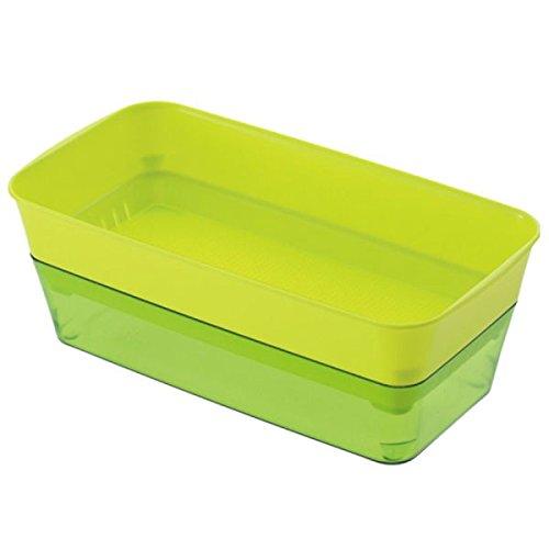 スプラウトファーム24型グリーン 2個セット[スプラウト・カイワレの栽培容器]